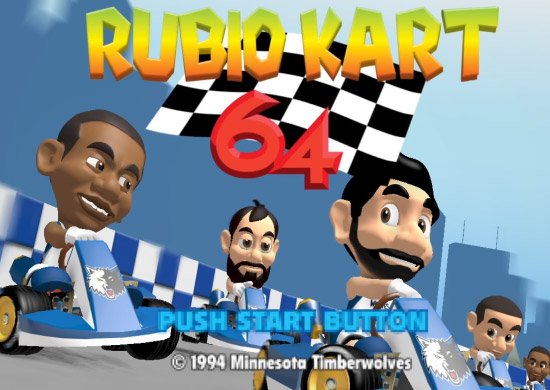 The Minnesota Timberwolves Rubio Kart